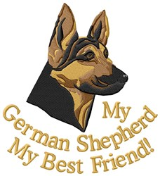 German Shepherd Best Friend embroidery design