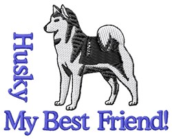 Husky My Best Friend! embroidery design
