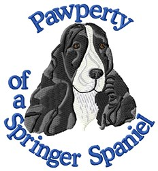 Pawperty Of Springer Spaniel embroidery design