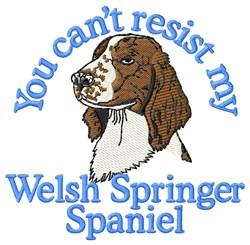 My Welsh Springer Spaniel embroidery design