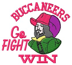 Go Fight Buccaneers embroidery design