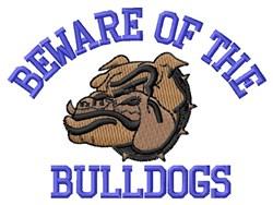 Beware Bulldogs embroidery design