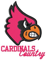 Cardinals Country embroidery design