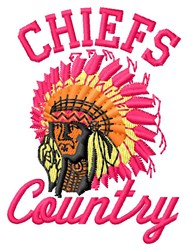 Chiefs Country embroidery design