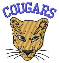Cougars embroidery design