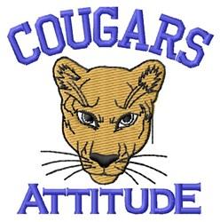 Cougars Attitude embroidery design