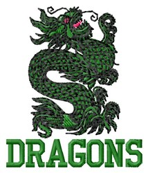 Dragons embroidery design