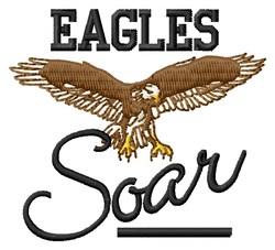 Eagles Soar embroidery design