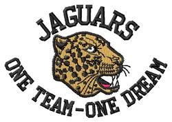 Jaguars One Team embroidery design