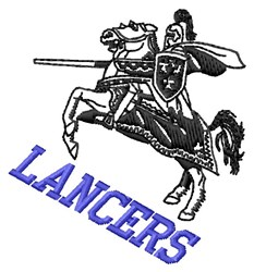 Lancers embroidery design