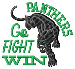 Go Fight Panthers embroidery design