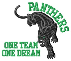 Panthers One Team embroidery design
