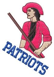 Patriots embroidery design