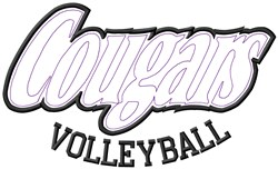 Cougars Volleyball embroidery design