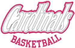 Cardinals Basketball embroidery design