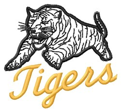 Tigers Mascot embroidery design