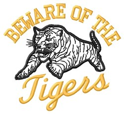 Beware Of Tigers embroidery design
