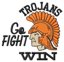Go Fight Trojans embroidery design