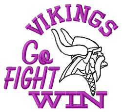 Go Fight Vikings embroidery design