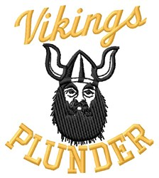 Vikings Plunder embroidery design