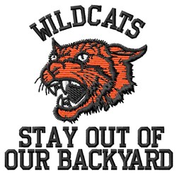 Wildcats Backyard embroidery design