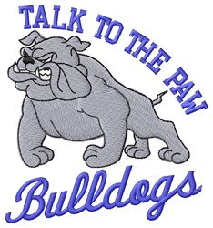 Talk To Paw Bulldogs embroidery design