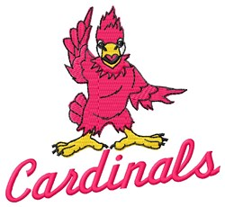 Cardinals embroidery design