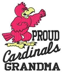 Cardinals Grandma embroidery design