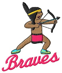 Braves embroidery design