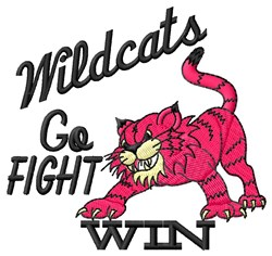 Wildcats Go Fight embroidery design