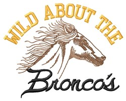 Wild About Broncos embroidery design