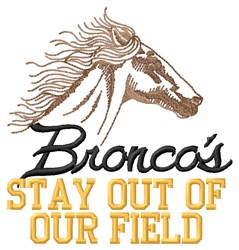 Broncos Field embroidery design