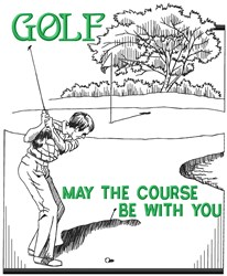 The Golf Course embroidery design