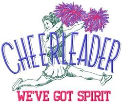 Cheerleader Spirit embroidery design