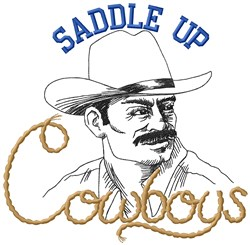 Saddle Up Cowboys embroidery design