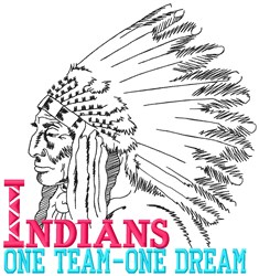 Indians Team embroidery design