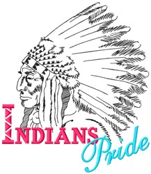 Indians Pride embroidery design