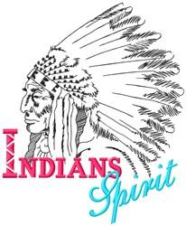 Indians Spirit embroidery design