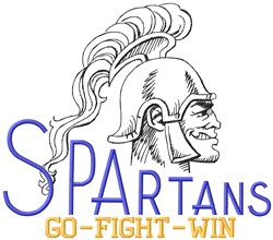Spartans Go Fight embroidery design