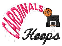 Cardinals Hoops embroidery design