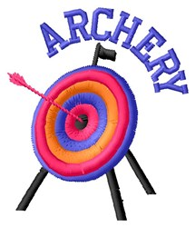 Archery embroidery design