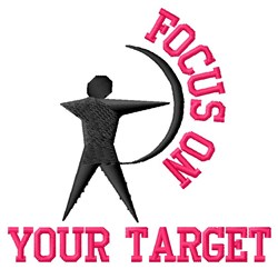 Focus On Target embroidery design
