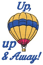 Up Up Away embroidery design