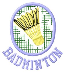 Badminton embroidery design