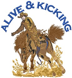 Alive & Kicking embroidery design