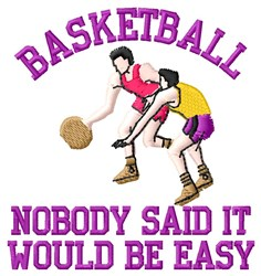 Easy Basketball embroidery design