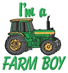 Farm Boy embroidery design