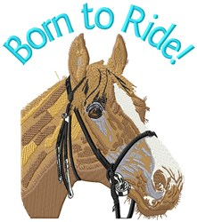 Born To Ride embroidery design