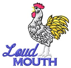 Loud Mouth embroidery design