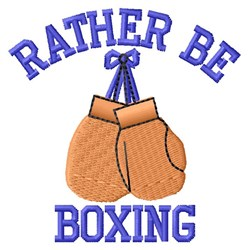 Rather Be Boxing embroidery design